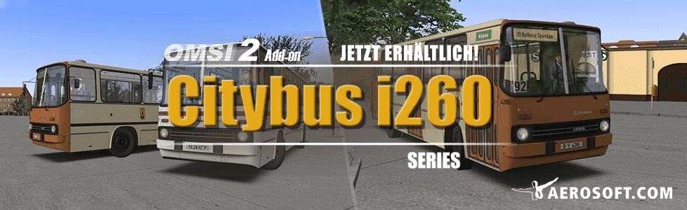 Aerosoft | OMSI 2 AddOn Ikarus i260 in 5 verschiedenen Varianten