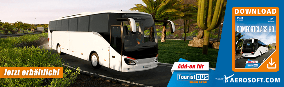 Aerosoft | Tourist Bus [TBS] AddOn Comfort Class HD jetzt erhältlich!